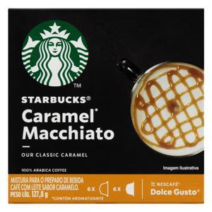 Cápsula Starbucks  Caramel Macchiato Caixa 127,8g 12 Cápsulas