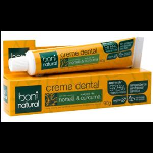 Creme Dental Boni Natural 90G Sem Flúor Hort/Curcu