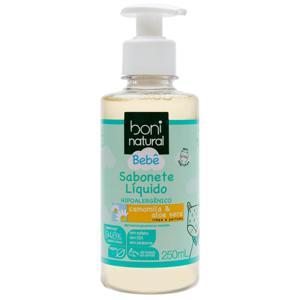 Sabonete líquido bebê camomila e aloe vera 250ml - Boni Natural