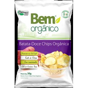 Chips de Batata Doce Orgânica 30g - Bem Orgânico