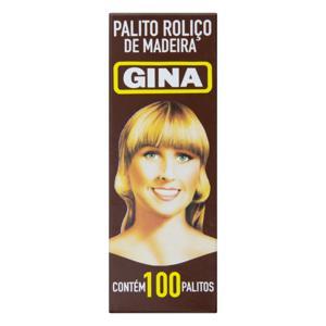 Palito Roliço Gina Caixa 100 Unidades