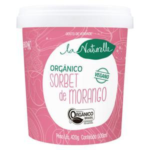 Sorbet Orgânico Morango La Naturelle Pote 500ml