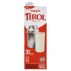 Leite UHT Integral Tirol Caixa com Tampa 1l