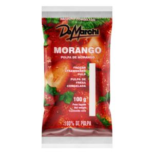 Polpa de Fruta Morango De Marchi Pacote 100g