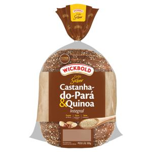Pão Integral Castanha-do-Pará e Quinoa Wickbold Grão Sabor Pacote 500g