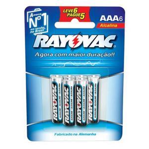 Pilha Alcalina RAYOVAC AAA com 5 Unidades Grátis 1