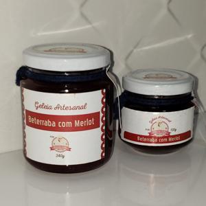 Geleia de Vinho Merlot 120g - Amanda Sales Confeitaria