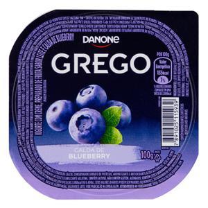 Iogurte Integral Grego Calda Blueberry Danone Pote 100g