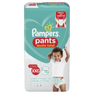 Fralda Descartável Pampers Pants Ajuste Total Tam XXG pacote c/12 unidades