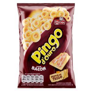Salgadinho de Trigo Bacon Elma Chips Pingo d'Ouro Pacote 48g