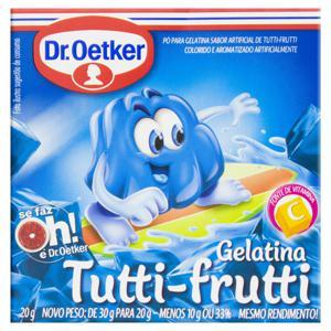 Gelatina em Pó Tutti Frutti Dr. Oetker Caixa 20g