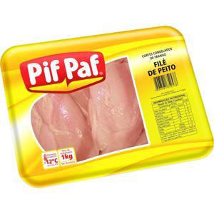Cortes Congelados De Frango Pif Paf File De Peito 1Kg Bdj