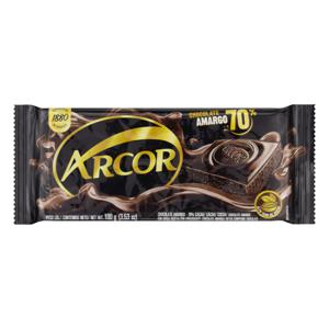 Chocolate Amargo 70% Cacau Arcor Pacote 100g