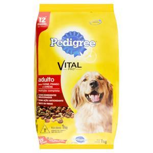 Alimento para Cães Adultos Carne, Frango e Cereais Pedigree Vital Pro Pacote 1kg