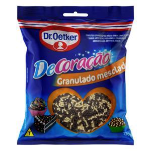 Confeito Granulado Mesclado Chocolate e Baunilha Dr. Oetker DeCoração Pacote 130g