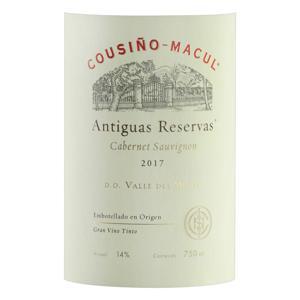Vinho Chileno Tinto Seco Cousiño-Macul Antiguas Reservas Cabernet Sauvignon Valle del Maipo 750ml