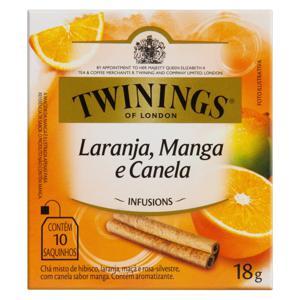Chá Misto Laranja, Manga e Canela Twinings Infusions Caixa 18g 10 Unidades
