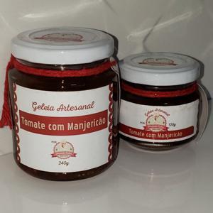Geleia de Tomate com Manjericão 120g - Amanda Sales Confeitaria