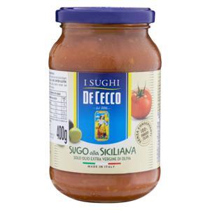 Molho de Tomate Azeitona De Cecco Vidro 400g