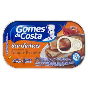 Sardinha ao Molho de Tomate Picante Gomes da Costa Lata 84g
