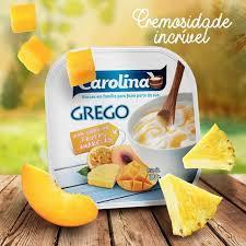 Iogurte Grego Carolina Integral Cal Frutas Amarelas 100g
