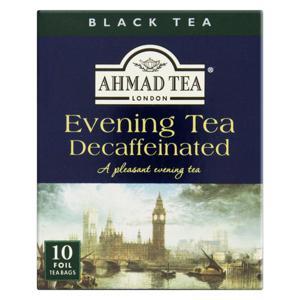 Chá Preto Evening Tea Decaffeinated Ahmad Tea London Caixa 20g 10 Unidades