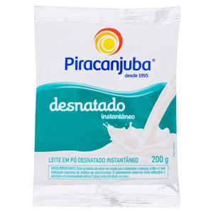 Leite em Pó Instantâneo Desnatado Piracanjuba Pacote 200g