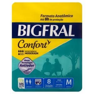 Fralda Geriátrica  Adulto Bigfral Confort tam M pacote c/8 Unidades