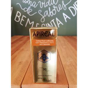 Apireal Geléia Real Liofilizada Com Vitaminas E, A e C 30 Cápsulas APIS FLORA