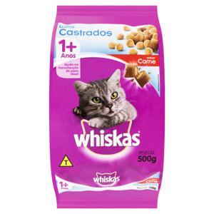 Alimento para Gatos Castrados Adultos 1+ Carne Whiskas Pacote 500g