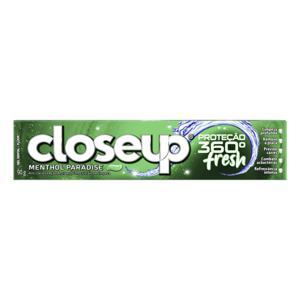 Gel Dental Menthol Paradise Closeup Proteção 360° Fresh Caixa 90g