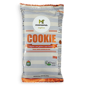 Cookie Cacau e Canela Sem Glúten Orgânico 36g - Monama