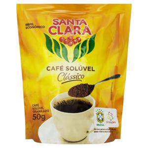 Café Solúvel Granulado Clássico Santa Clara Sachê 50g Refil Econômico