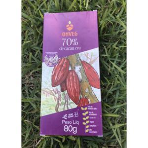 Chocolate 70% de cacau cru (80g)