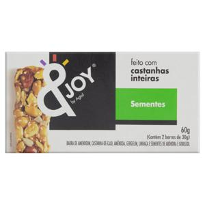 Barra de Nuts Sementes &Joy Caixa 60g 2 Unidades