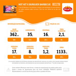 Sanduiche Hot Hit SEARA Barbecue 145g
