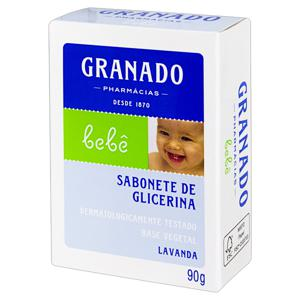 Sabonete em Barra de Glicerina Lavanda Granado Bebê Caixa 90g