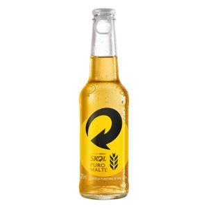 Cerveja American Lager Premium Puro Malte Skol Garrafa 275ml