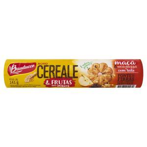 Biscoito Integral Maçã e Uva-Passa com Leite Bauducco Cereale Pacote 141g