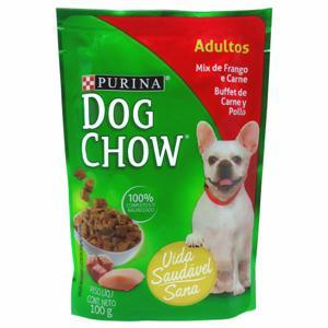 Ração Úmida para Cães PURINA Dog Chow Sachê Mix de Frango e Carne 100g