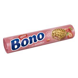 Biscoito Recheio Morango Nestlé Bono Pacote 126g
