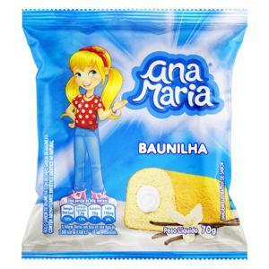 Bolo Baunilha Recheio Baunilha Ana Maria Pacote 70g