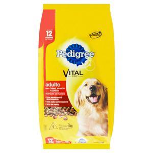 Alimento para Cães Adultos Carne, Frango e Cereais Pedigree Vital Pro Pacote 3kg