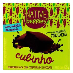 Bombom Açaí Cobertura Chocolate 70% Cacau Native Berries Caixa 105g