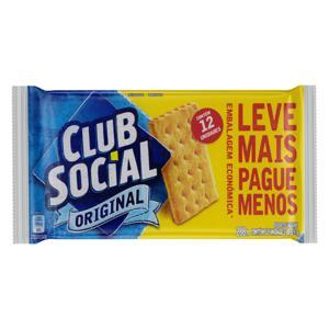Pack Biscoito Original Club Social Pacote 288g 12 Unidades Embalagem Econômica Leve Mais Pague Menos