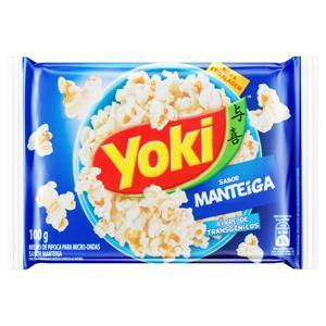 Pipoca para Micro-Ondas Manteiga Yoki Pacote 100g