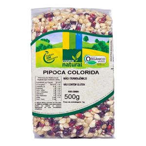 Milho de Pipoca Colorida Orgânica (500g)