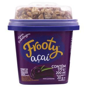 Sorbet com Granola Açaí e Guaraná Frooty Pote 200ml