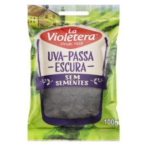 Uva-Passa Escura sem Semente La Violetera Pacote 100g