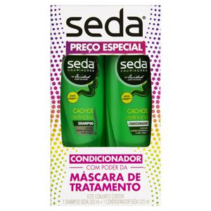 Kit Shampoo + Condicionador Seda 325ml Cachos Definidos